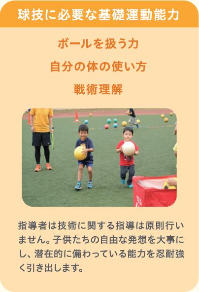 球技に必要な基礎運動能力